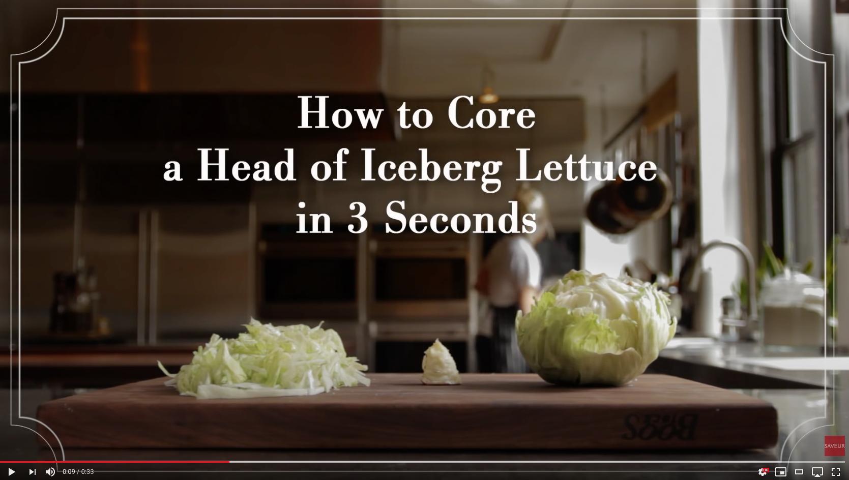 Hart van ijsbergsla verwijderen in 3 seconden