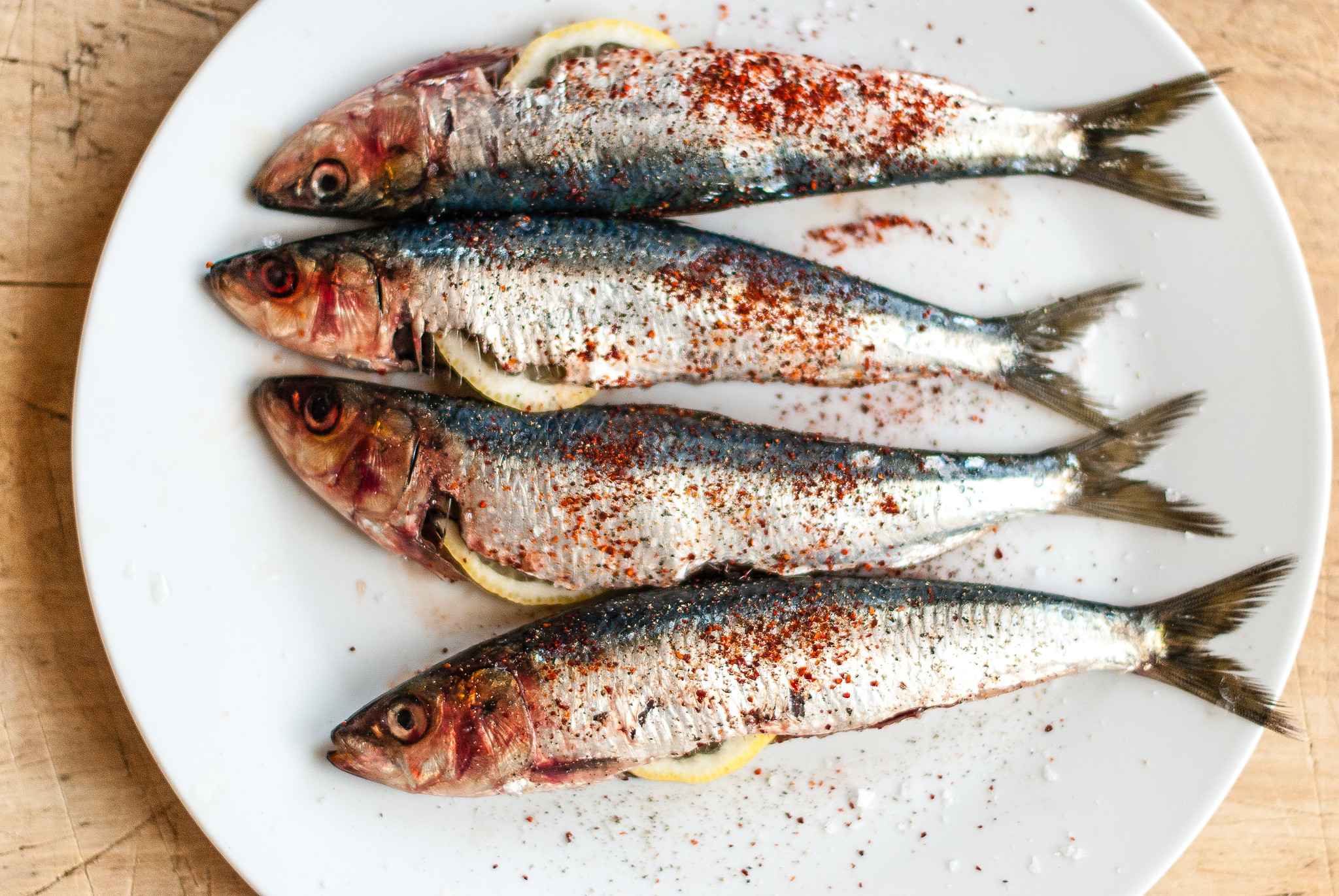 Sardines met citroen en piment d'espelette