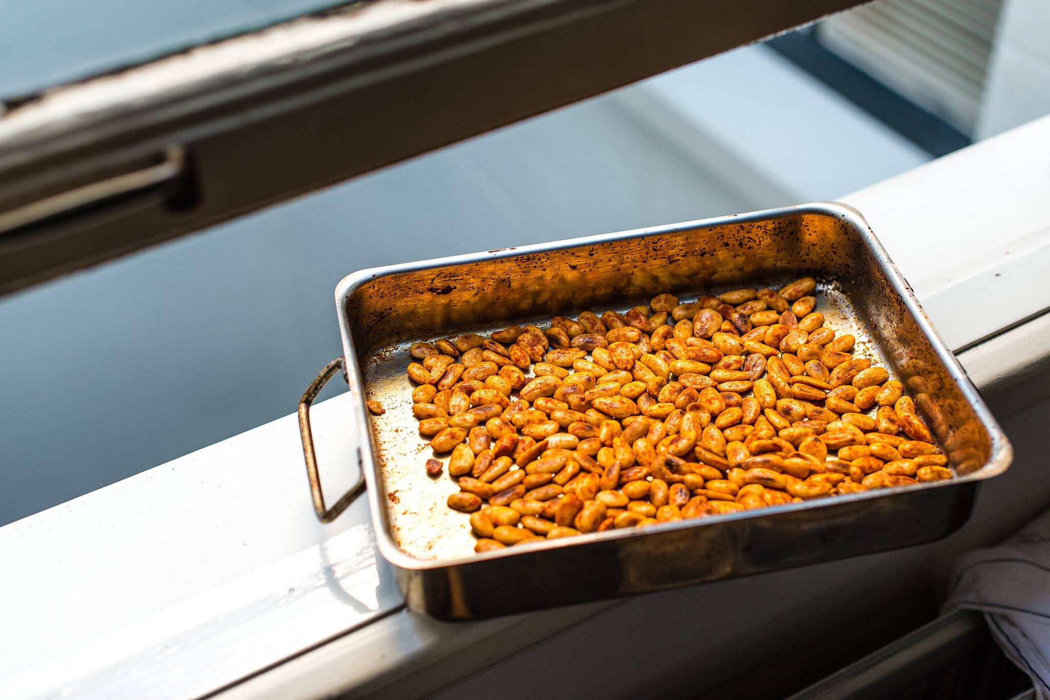 Geroosterde amandelen met pimentón en zeezout